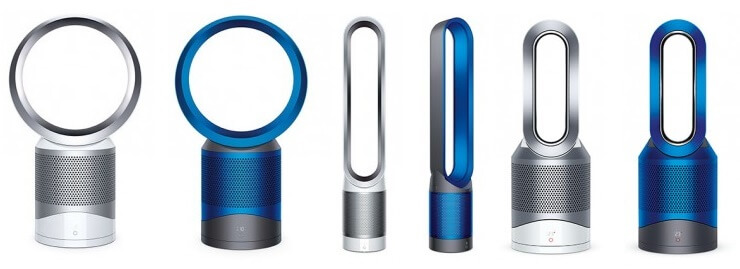 Dyson luchtreiniger pure hot link cool blue grey white